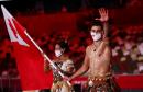 Топ самых необычных костюмов на церемонии открытия Олимпиады: от расцветки «вырви глаз» до перьев