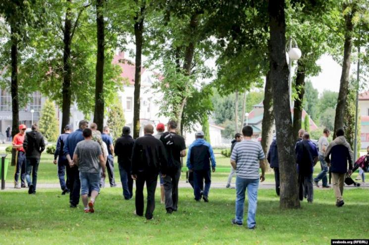 БелАЭС: российские рабочие протестовали в Островце