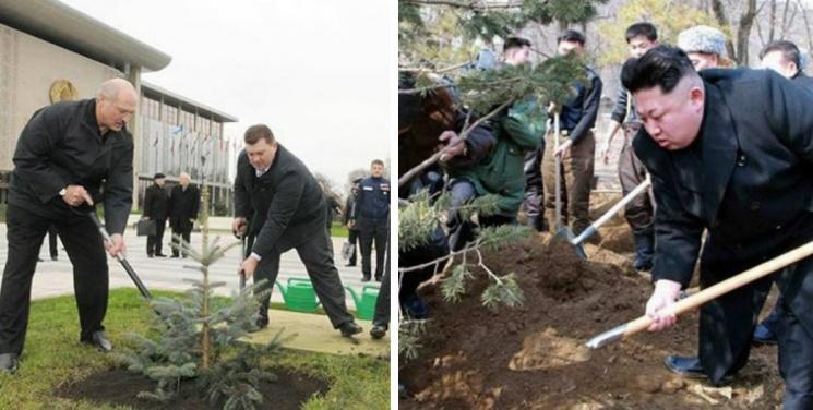 Найдите 10 отличий на фотографиях Лукашенко и Ким Чен Ына