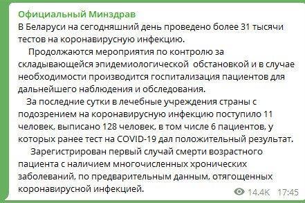 Стыдобище! Сравните два сайта Минздрава Беларуси и Украины со статистикой COVID-19