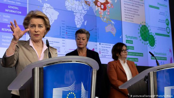 Еврокомиссия создает кризисный штаб по борьбе с коронавирусом
